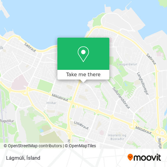 Lágmúli map