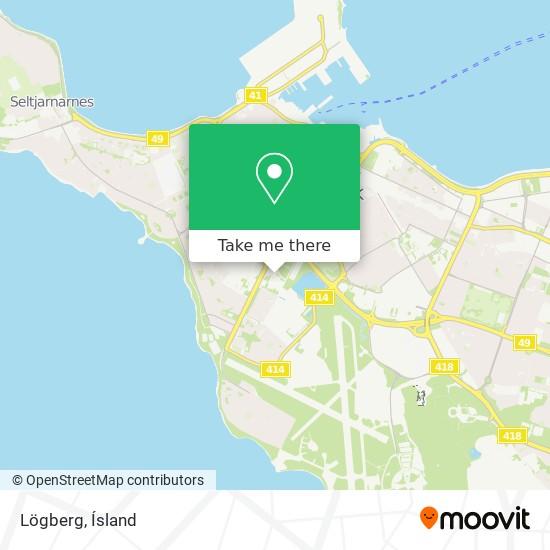 Lögberg map