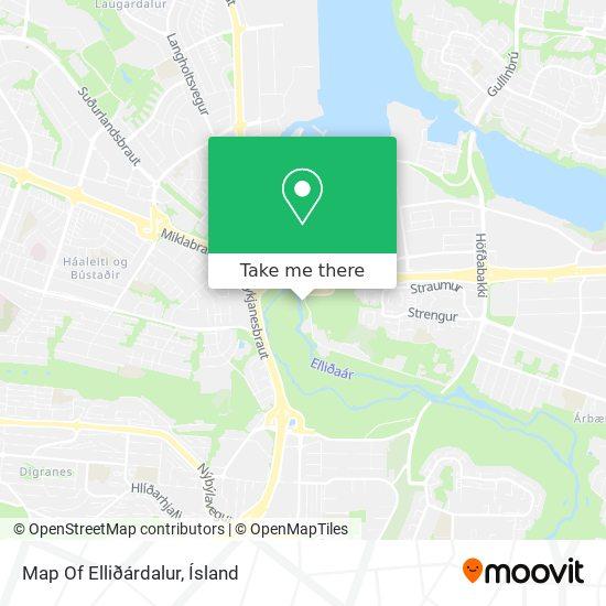 Map Of Elliðárdalur map