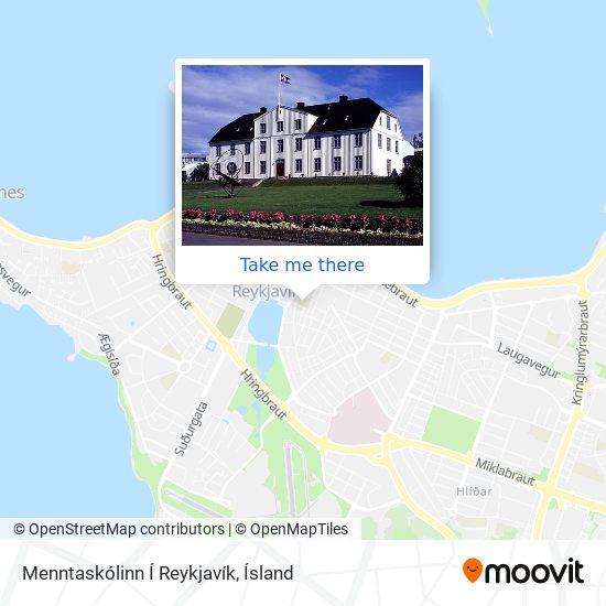 Menntaskólinn Í Reykjavík map
