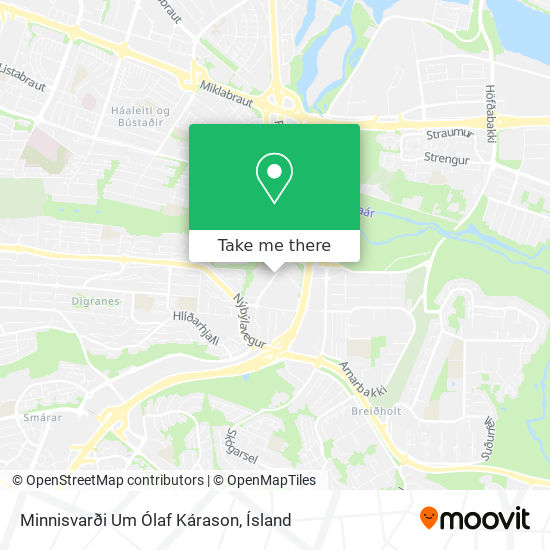 Minnisvarði Um Ólaf Kárason map
