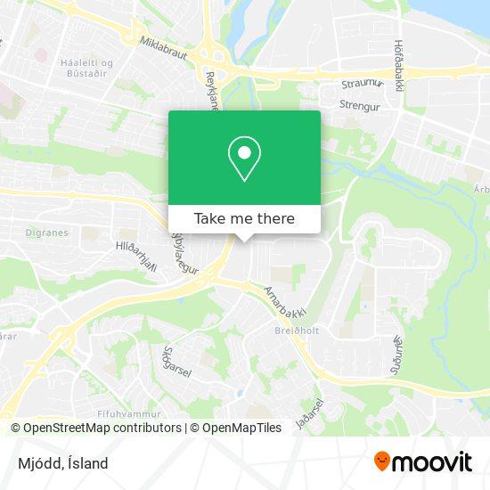 Mjódd map