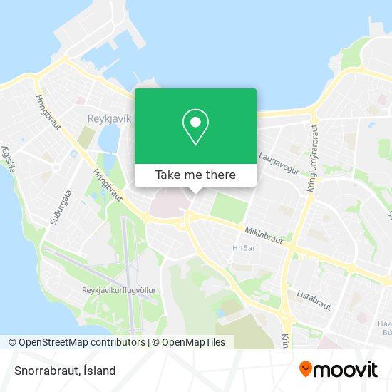 Snorrabraut map