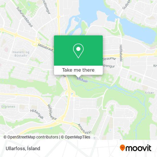 Ullarfoss map
