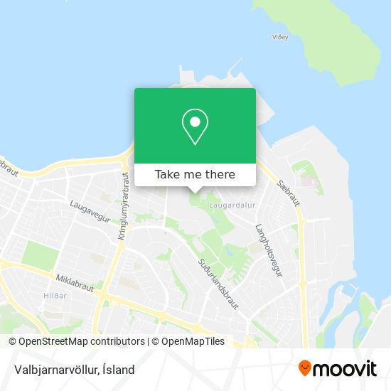 Valbjarnarvöllur map