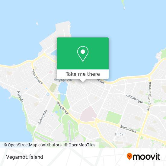 Vegamót map