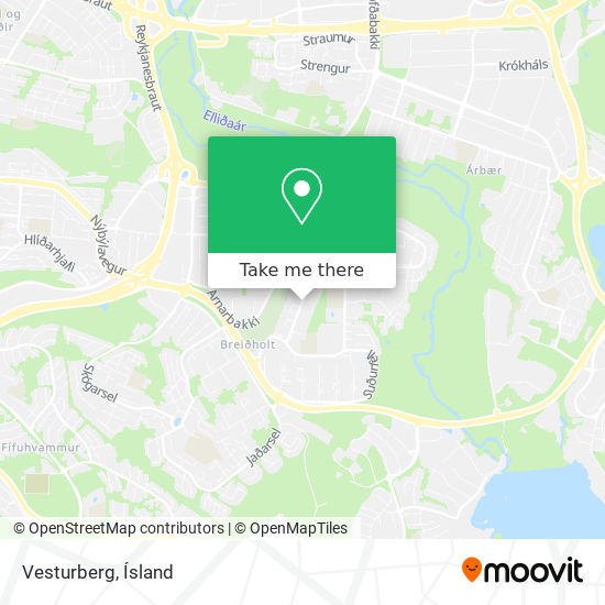 Vesturberg map