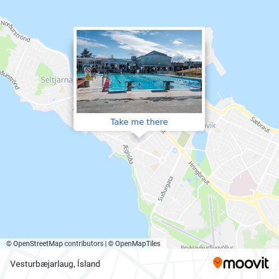 Vesturbæjarlaug map