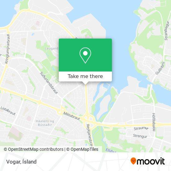 Vogar map