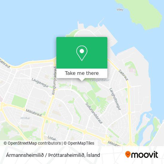 Ármannsheimilið / Þróttaraheimilið map