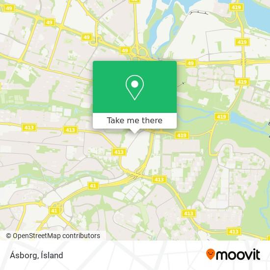 Ásborg map