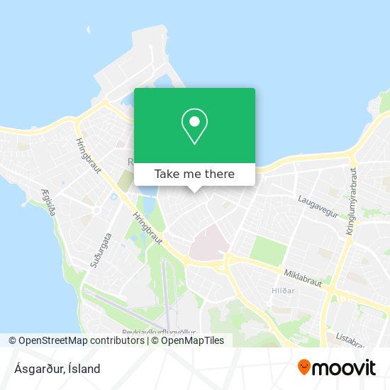 Ásgarður map