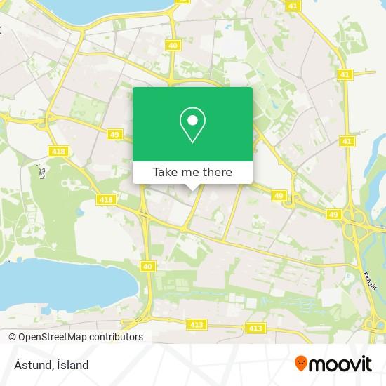 Ástund map
