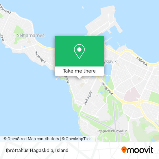 Íþróttahús Hagaskóla map