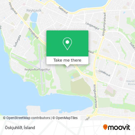 Öskjuhlíð map