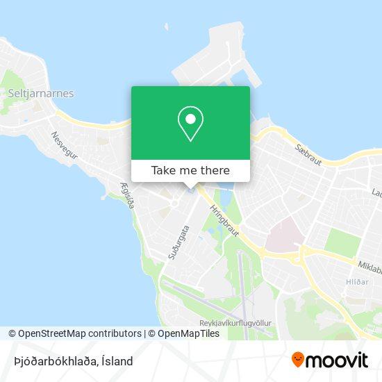 Þjóðarbókhlaða map