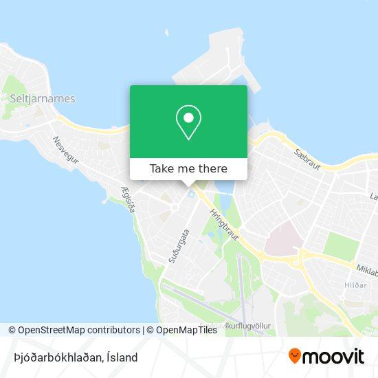 Þjóðarbókhlaðan map