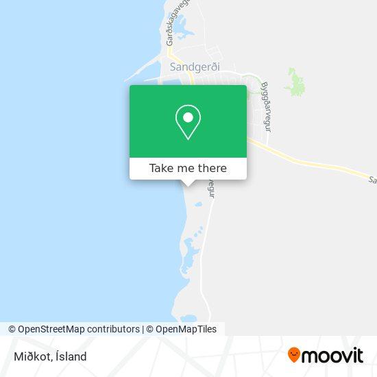 Miðkot map