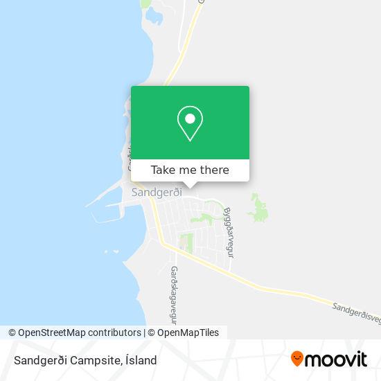 Sandgerði Campsite map