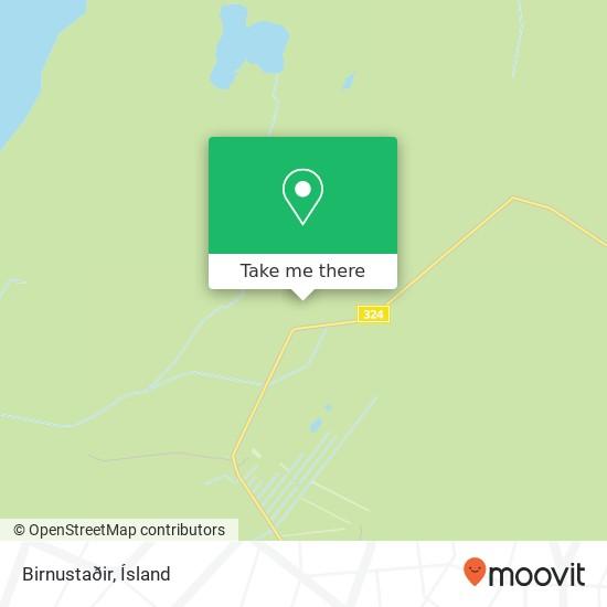 Birnustaðir map