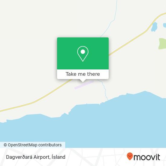 Dagverðará Airport map
