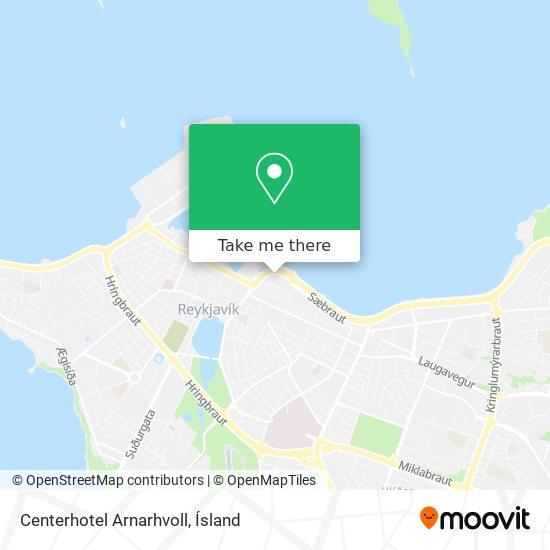 Centerhotel Arnarhvoll map