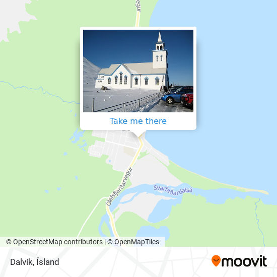 Dalvík map