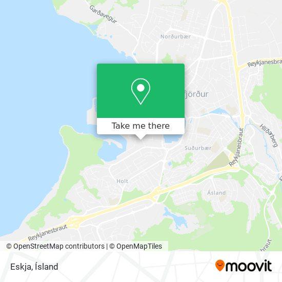 Eskja map