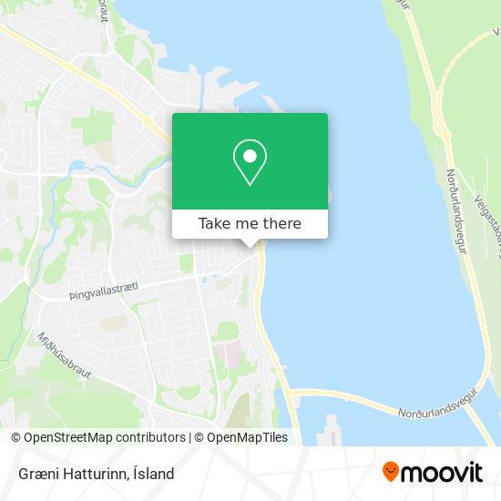 Græni Hatturinn map