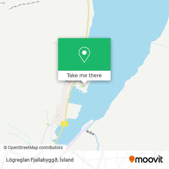 Lögreglan Fjallabyggð map