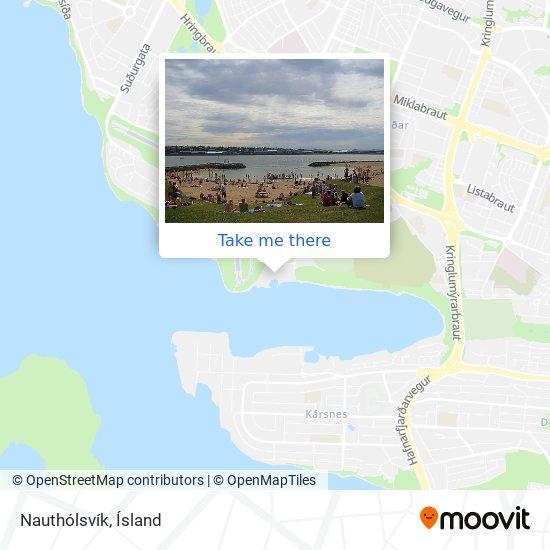 Nauthólsvík map