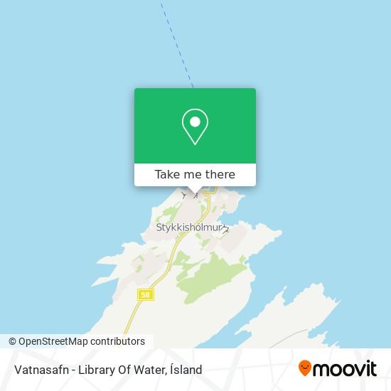 Vatnasafn - Library Of Water map