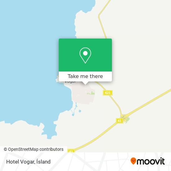 Hotel Vogar map