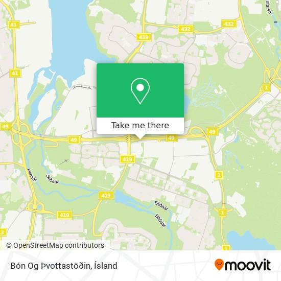 Bón Og Þvottastöðin map