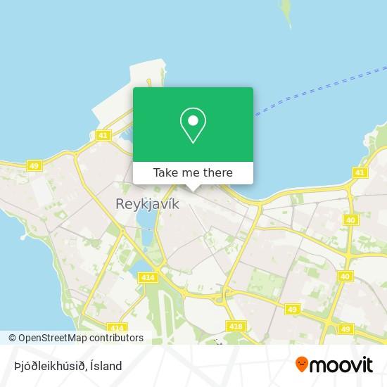 Þjóðleikhúsið map