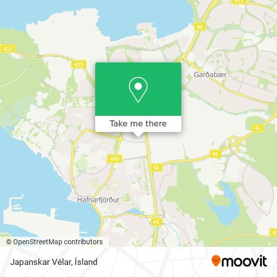 Japanskar Vélar map