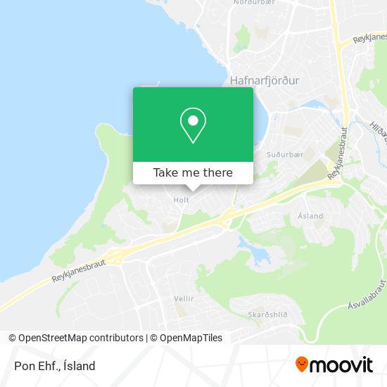 Pon Ehf. map