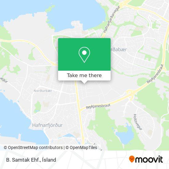 B. Samtak Ehf. map