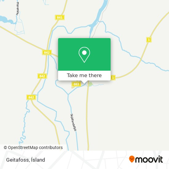 Geitafoss map