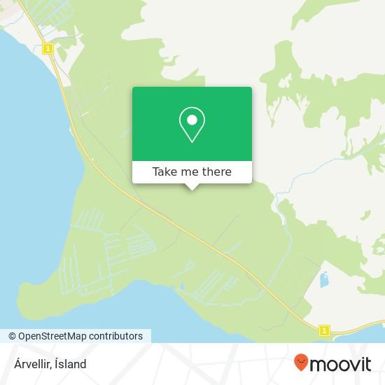 Árvellir map