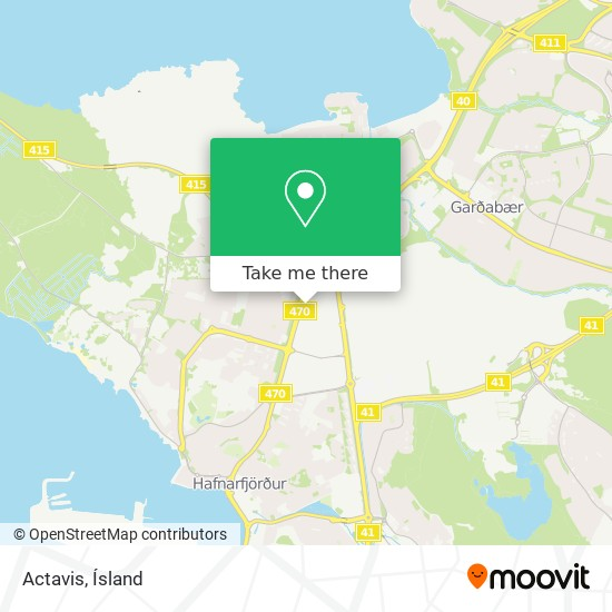 Actavis map