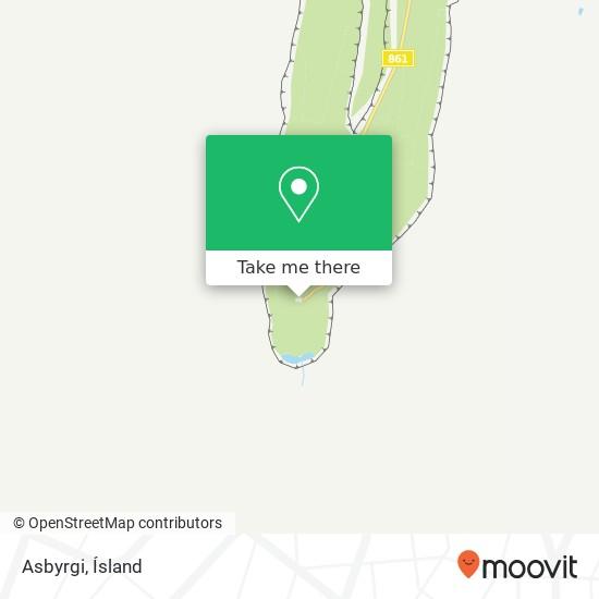 Asbyrgi map