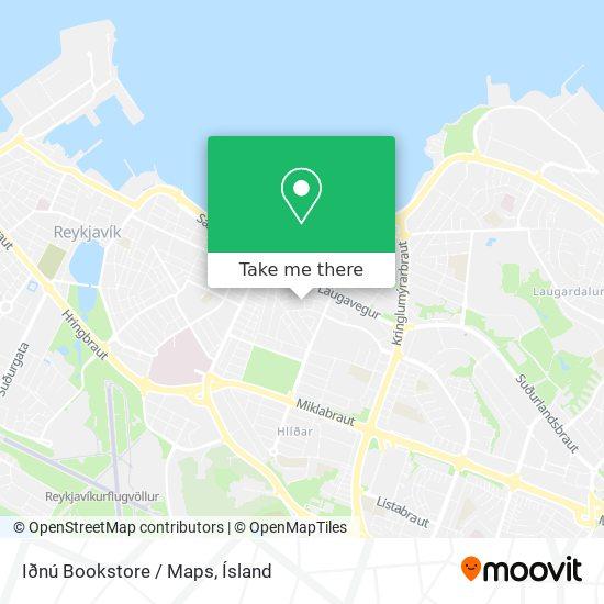 Iðnú Bookstore / Maps map