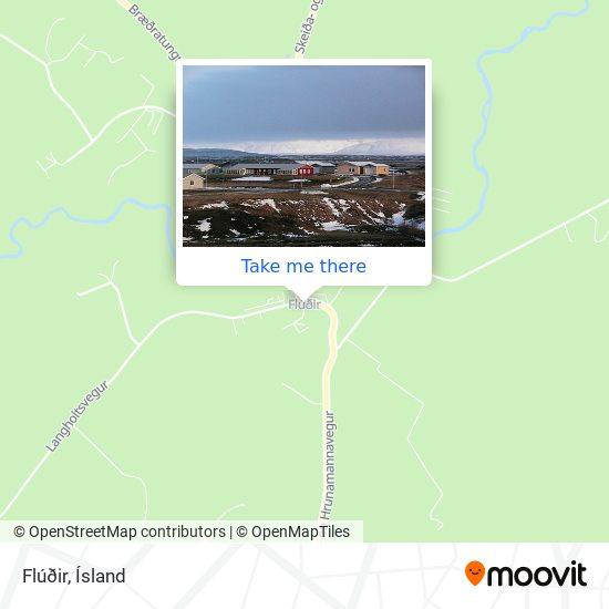 Flúðir map