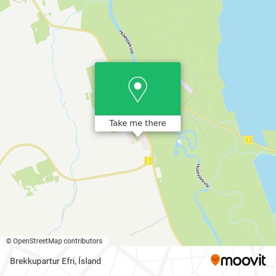 Brekkupartur Efri map