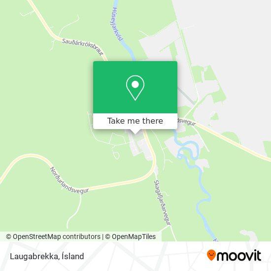 Laugabrekka map