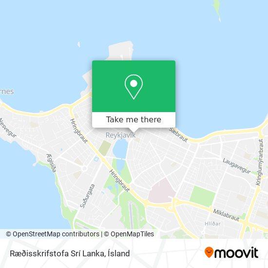 Ræðisskrifstofa Sri Lanka map