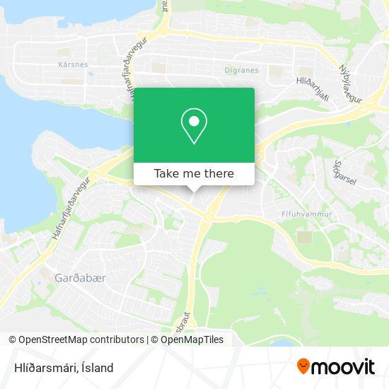 Hlíðarsmári map