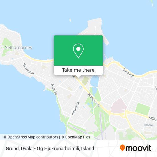 Grund, Dvalar- Og Hjúkrunarheimili map