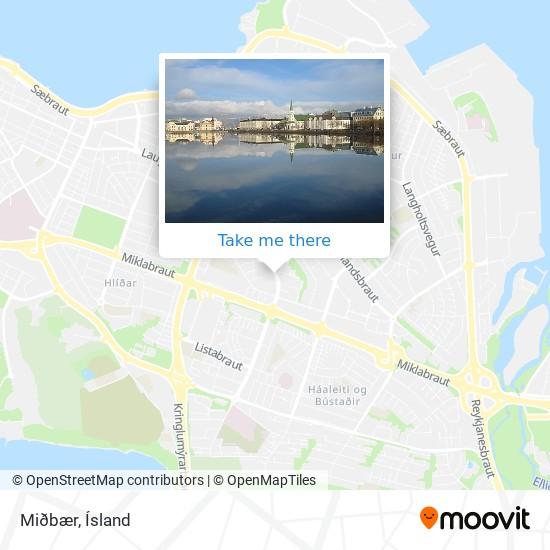 Miðbær map